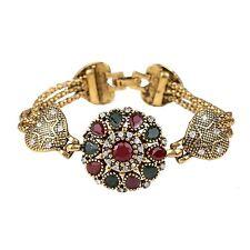 Fashion Vintage Heart Crystal Rhinestone Bracelet Wristband Women's Jewelry