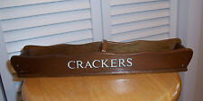 Vintage Wood Cracker Tray Holder Rack Fold Down Handle