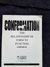 Aqha American Quarter Horse Conformation Relationship Form to Function pamphlet