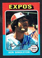 Ken Singleton #125 signed autograph auto 1975 Topps MINI Baseball Trading Card