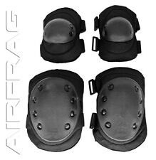 Water Resistant Advanced Black Tactical Airsoft Knee & Elbow Pads by Lost Woods