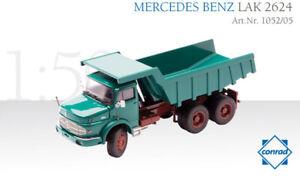 Conrad 1052-05 Mercedes-Benz LAK 2624 Quarry Rock Dump Truck - Green 1/50 MIB