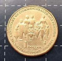 2009 AUSTRALIAN $1 ONE DOLLAR COIN - CENTENARY OF COMMONWEALTH AGE PENSION