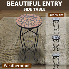 vidaXL Mosaic Plant Table Outdoor Terrace Coffee Flower Stand Multi Colours