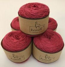 Alpaca Wool Skeins 100% Baby Alpaca Yarn Lot of 5 Calm Red Color 9022