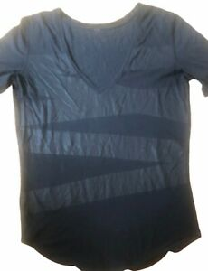 LULULEMON Love Tee II Black / Black size 10 Vitasea EUC Run Gym Yoga