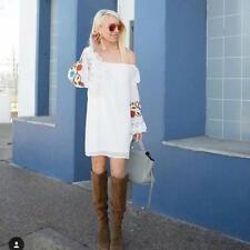9115e54fd53948 Vava by Joy Han Open Neckline Dress White Bell Sleeve NWT  107 Size S  Elegant