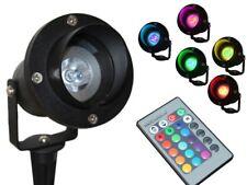 LED Gartenstrahler 1,5m Kabel + Stecker wasserdicht IP68 RGB + Fernbedienung