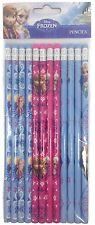 Disney Frozen Elsa Anna 12 Pencils School stationary Supplies party favors gift