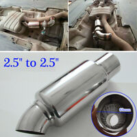 Stainless Steel Car Exhaust Downpipe Branch Sound Tuning Muffler Pipe 63mm 2.5''
