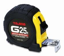 TAJIMA Tape Measure G-25BW 25 ft*1 inch Measuring Tape with Shock Resistant Case