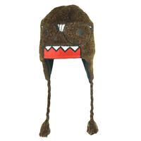 Domo Kun Character Nerd Glasses Knit Terry Cloth Beanie Peruvian Laplander Hat