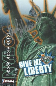 ** BECKY HAMMON ** AUTHENTIC AUTOGRAPHED 2004 WNBA NEW YORK LIBERTY MEDIA GUIDE