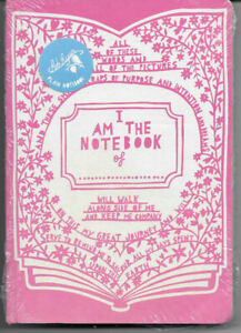 Rob Ryan I am the Notebook of .... Sealed  Pink Cover Plain Notebook Wild & Wolf