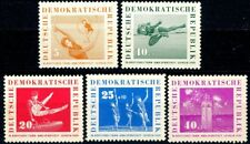 Germany Ddr 1959 Sports Festival Complete Set 5 Mh Semi-Postals B44 to B48