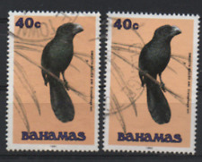 Bahamas 1993/95 MiNr.: 743 i+II Glattschnabelani gestempelt; Scott 715;715a used