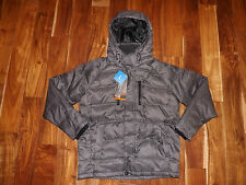 NWT Mens HAWKE & CO Charcoal Gray Down Feather Parka Outerwear Jacket Coat L