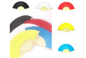 Paper folding fan Chinese Japanese traditional costume samurai party hand held