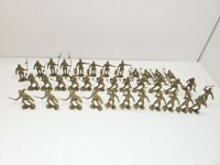 Marx Re-Issue Gold Knight Toy Figurines, Approx. 36 Total Pieces