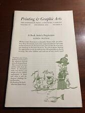 Printing & Graphic Arts Stinehour Press Lunenburg Vermont December 1958