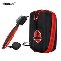 BOBLOV Golf Rangefinder Case Pouch Carry Bag With Double-Sided Golf Club Cleaner