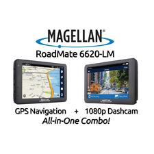 "Magellan RoadMate 6620-LM GPS + 1080p HD Dash Cam Combo 5"" Lifetime Map Updates"