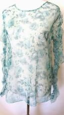 Zara Green  Color Floral Print Long Sleeve  Blouse  Size XL