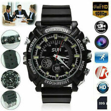 1080P Mini Spy HD Camera Watch 32GB Smart Sport IR Night Vision Video Camcorder