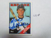 1988 Topps Marc Sullivan Autographed Signed Baseball Card