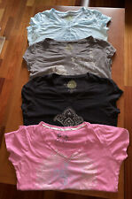 Eco Yoga Large Organic Cotton Clothing Short Sleeve Graphic Top's LOT OF 4 NICE