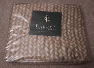 Lauren Ralph Lauren Queen Flat Sheet Vintage DESERT PLAINS Wicker New
