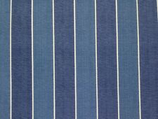 RICHLOOM WICKENBURG INDIGO BLUE STRIPE OUTDOOR FURNITURE FABRIC BY THE YARD