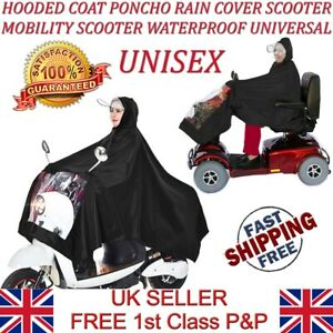 LTG Waterproof Mobility Scooter Bike Rain Suit Till Cover Mac Poncho Hooded Coat