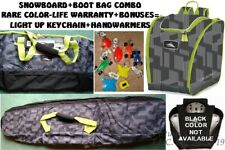 NWT/NEW DELUXE HIGH SIERRA BOOT AND SNOWBOARD BAG COMBO SET-HOT MODIFIED CAMO!