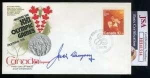 Jack Dempsey JSA Coa Autograph Hand Signed 1976 Olympics FDC Cache