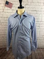 Brooks Brothers Men's Blue Stripe COTTON Button Up Dress Shirt Size 17 33 $125