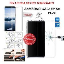 Pellicola protezione Display totale Vetro Temperato per Samsung Galaxy S8 Plus
