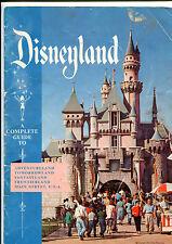 1957 Disneyland Souvenir Guide Book Walt Disney early Park program