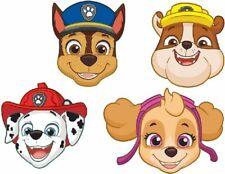 Paw Patrol Face Masks Superhero Partyware Children's Party Decorations x 8
