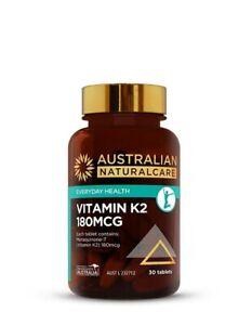 Vitamin K2 180mcg (30 tablets)