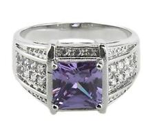 18K Gold Filled Purple Amethyst Rings Elegant Jewelry for Women Style size 6 di