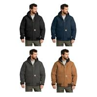 J140 Carhartt Quilted-Flannel-Lined Duck Active Jacket FREE SHIPPING