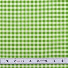 Lot L926  - MEDIUM GINGHAM in Green by Riley Blake - Fabric by the ½ metre
