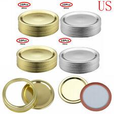 20 Split-Type Lids Sealing Storage Solid Caps for Regular/Wide Mouth Mason Jar