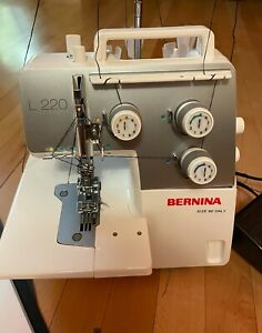 Bernina L220 Coverstitch and Chainstitch Machine. Pristine Condition