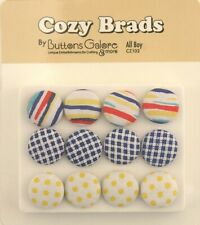 Cozy Fabric Covered Brads by Buttons Galore and More - Men's Closet