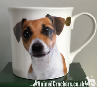 Jack Russell Terrier china mug printed both sides Leonardo dog lover gift boxed