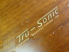 Stephens Tru-Sonic TruSonic speaker WATER DECAL logo emblem - New reproduction