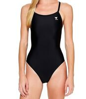 TYR Women's Swimwear Black Size 28 One-Piece Performance Cutout-Back $59 #601