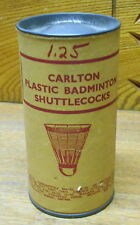 Vintage Carlton Plastic Badminton Shuttlecocks In Package